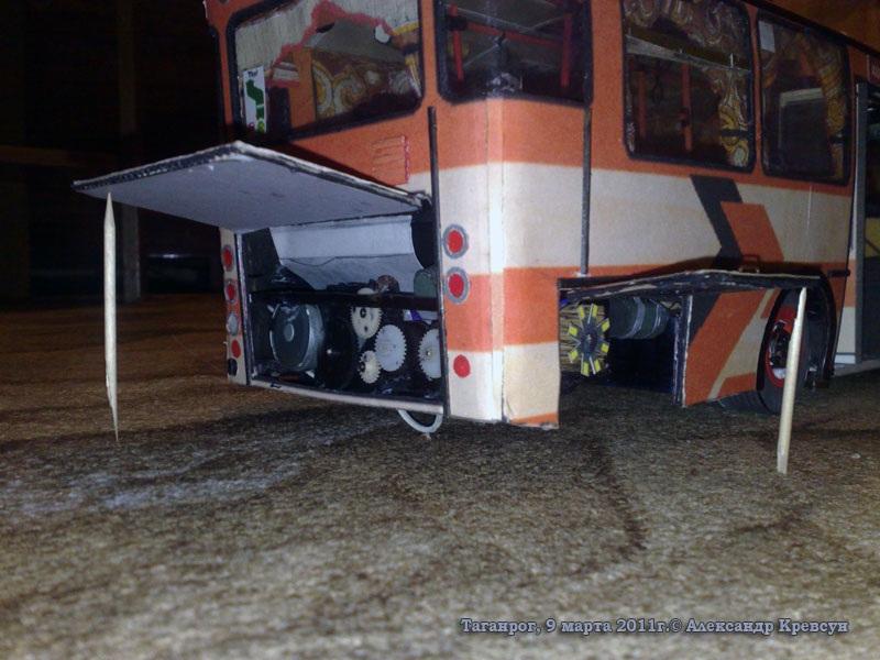 Таганрог. Модель автобуса Mercedes O305G (с вымышленным госномером аа177-61rus)