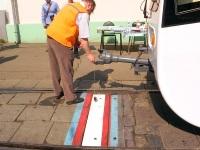 Москва. Измерение точности остановки вагона над стоп-линией