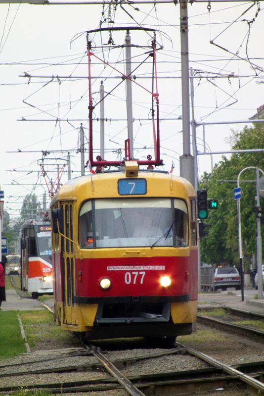 Краснодар. Tatra T3SU №077