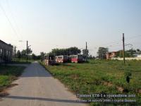 Рязань. Трамваи КТМ-5 в трамвайном депо