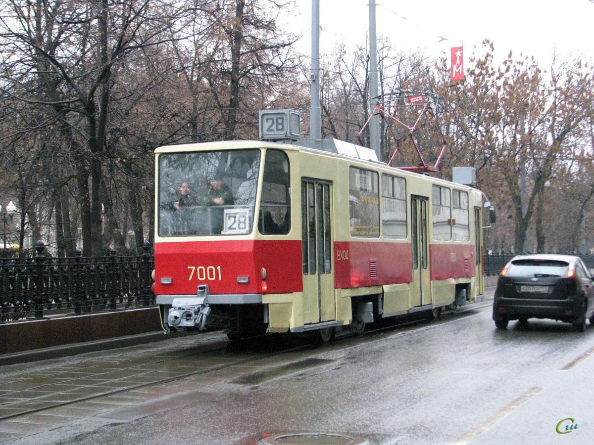 Москва. Tatra T7B5 №7001