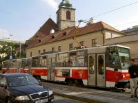 Прага. Tatra T6A5 №8665, Tatra T6A5 №8680