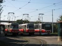Прага. Tatra T3 №8455, Tatra T3 №8358, Tatra KT8D5 №9051