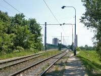 Прага. Most elektricke drahy (Мост электрического трамвая) через Влтаву в районе Troja