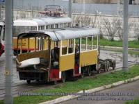 Москва. Разобранный трамвай Tatra T3 в Краснопресненском трамвайном депо