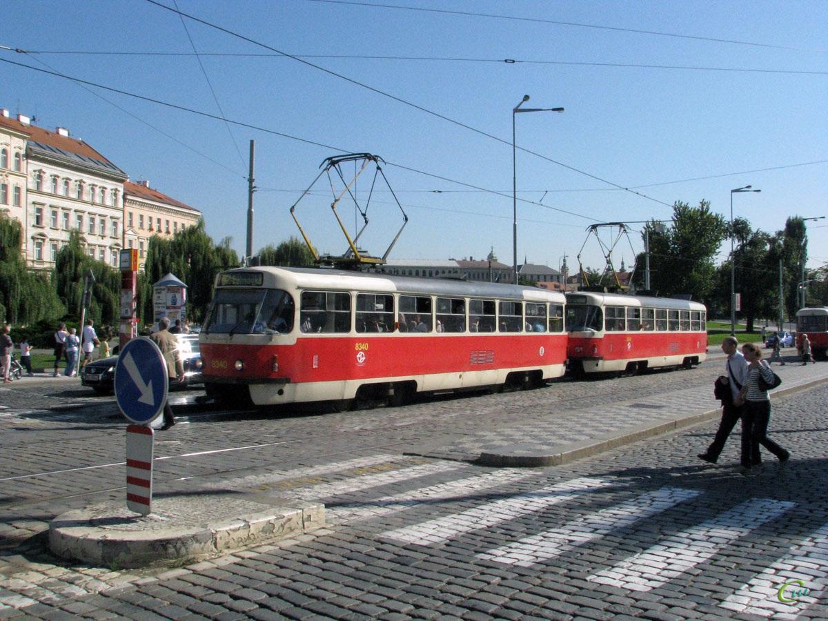 Прага. Tatra T3 №8340, Tatra T3 №8342