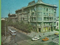 Одесса. Троллейбус ЗиУ-5, маршрут 2, перекресток улиц Дерибасовской и Ленина (ныне Ришельевская), фото с карты города, датированной 1988 годом