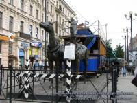 Санкт-Петербург. Модель-копия вагона Санкт-Петербургской конки