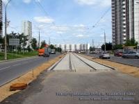 Москва. Ремонт трамвайных путей на Таллинской улице