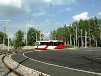 Донецк. Трамвай ЛМ-2008 №3201 на 1 маршруте