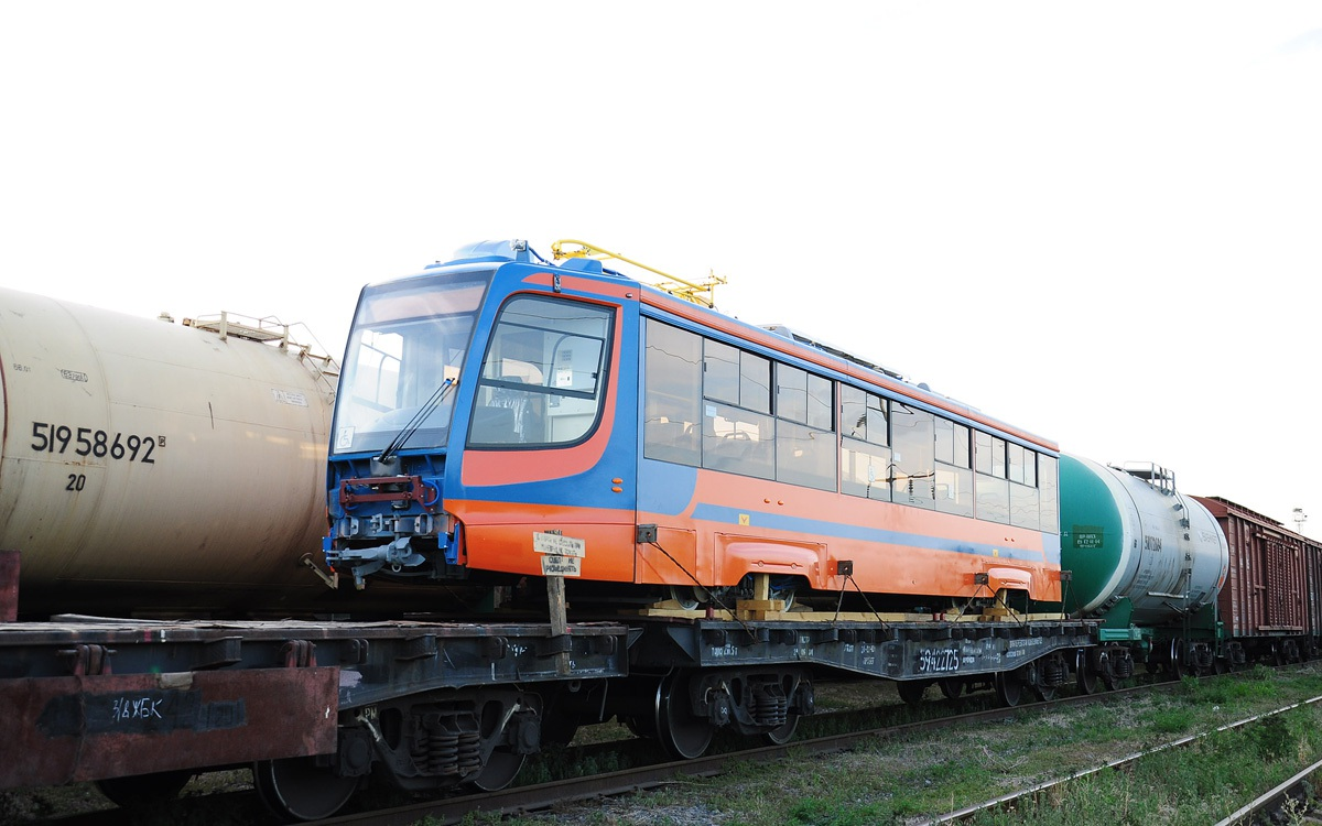 Таганрог. Вторая партия вагонов 71-623-02 (КТМ-23) на станции Марцево