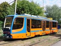 Таганрог. Трамвай КТМ-5 №296 тянет новый вагон 71-623-02 (КТМ-23)