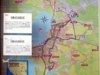 Пула. Схема автобусных маршрутов города Пула (Gradske Bus Linije)