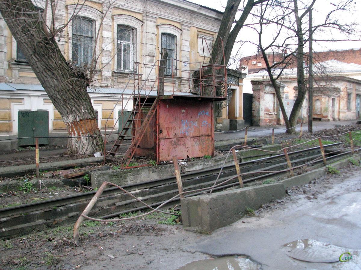 Новочеркасск. Ремонтная зона на конечной станции Улица Генерала Лебедя