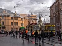 Санкт-Петербург. Инженерная улица, парад в честь 105-летия трамвая в Петербурге, общий вид мероприятия
