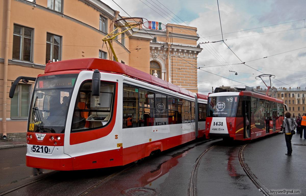 Санкт-Петербург. 71-153 (ЛМ-2008) №1431, 71-631 (КТМ-31) №5210