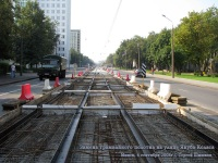 Минск. Замена трамвайного полотна на улице Якуба Коласа