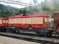 Воловец. Троллейбусы БКМ-32100С (АКСМ-321) на пути с завода-изготовителя в Белград, станция Воловец, Закарпатская область