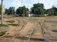 Николаев. Трамвайная развязка перед въездом в депо №1