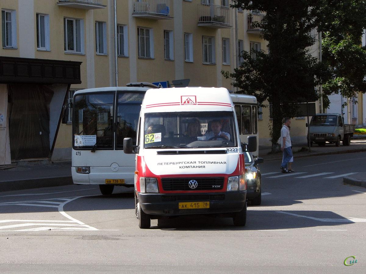 Великий Новгород. Mercedes O345 ав738, Volkswagen LT46 ак415