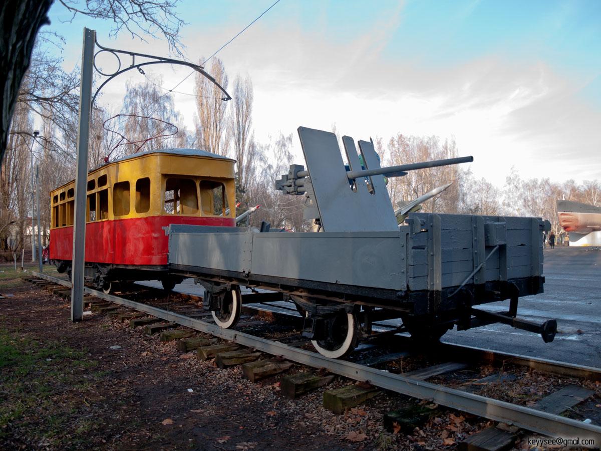 Одесса. Х №58, Двухосный прицепной вагон №(б/н)