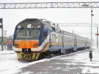 Жлобин. Дизель-поезд ДР1Б, станция Жлобин-Пассажирский