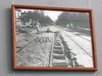 Таганрог. Работы по укладке трамвайных путей на улице Фрунзе
