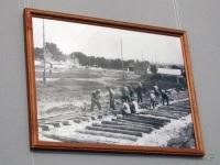 Таганрог. Работы по укладке трамвайных путей в Смирновском переулке