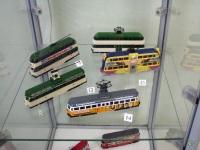 Таганрог. Модели различных трамваев, выполненные в масштабе 1:87