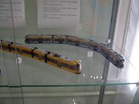Таганрог. Модели трамваев для Дрездена (6) и Лейпцига (7), выполненные в масштабе 1:87