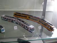 Таганрог. Модели трамваев для Кельна (10) и Карлсруэ (11), выполненные в масштабе 1:87