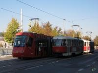Прага. Tatra T3 №8303, Škoda 14T №9111
