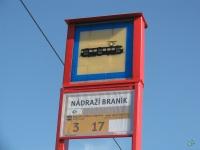 Прага. Временный маршрутный указатель на конечной станции Nadrazi Branik