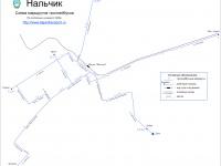Нальчик. Схема маршрутов троллейбусов Нальчика по состоянию на август 2006 года (актуальная на сегодняшний день)