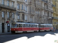 Прага. Tatra T3 №8450, Tatra T3 №8451
