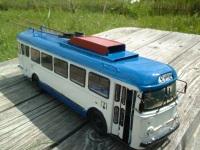 Санкт-Петербург. Модель ялтинского троллейбуса Skoda-9Tr