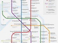 Санкт-Петербург. Предполагаемая схема метро Санкт-Петербурга