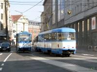 Острава. Tatra T6A5 №1108, Tatra T3 №970
