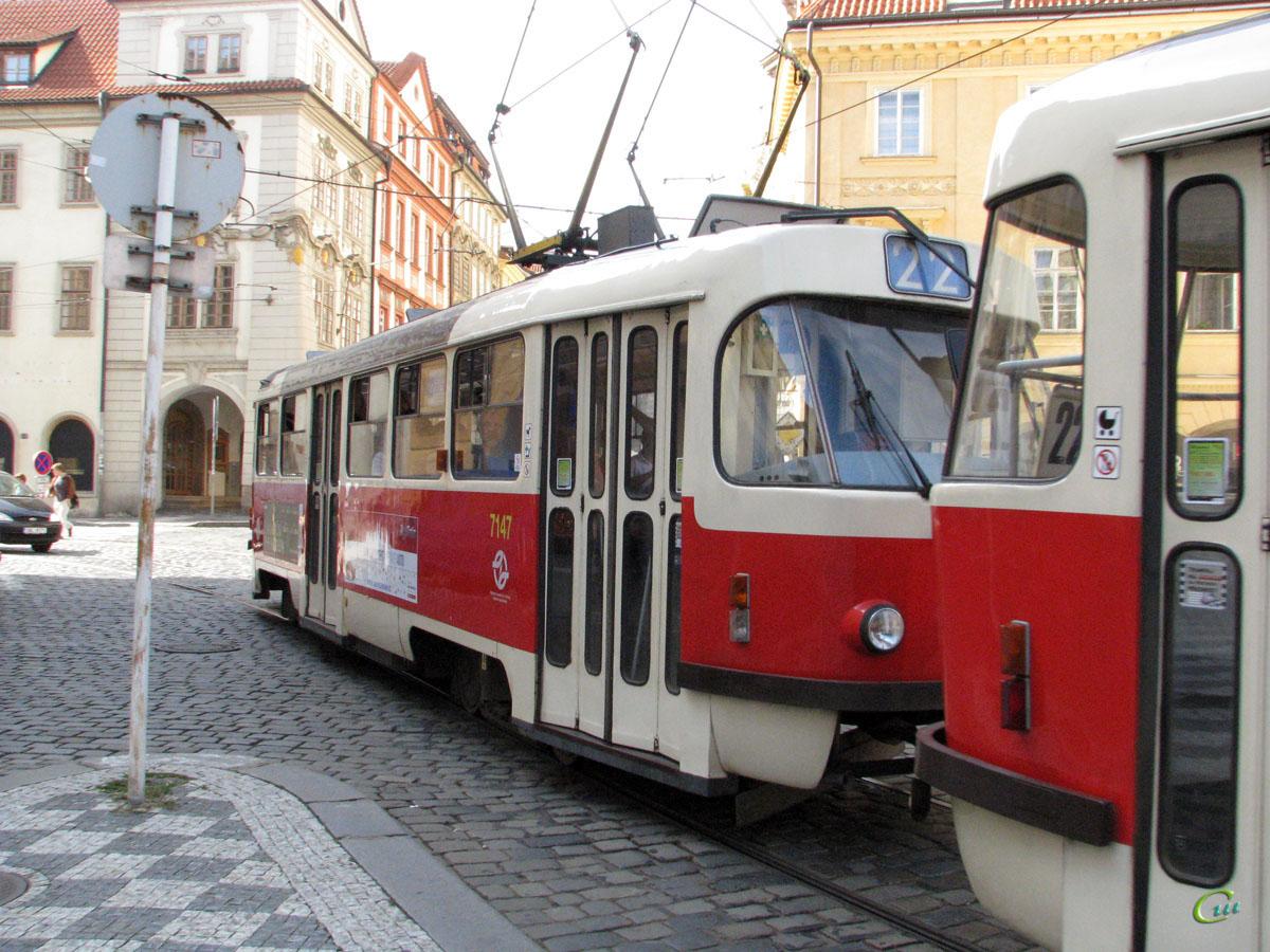 Прага. Tatra T3SUCS №7147