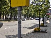 Витебск. Необычный и неработающий аншлаг на троллейбусной остановке «Улица Кирова»