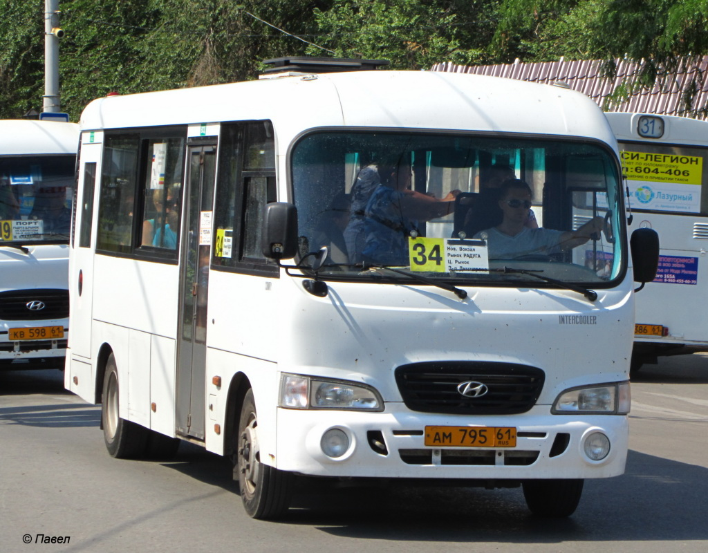 Таганрог. Hyundai County LWB ам795