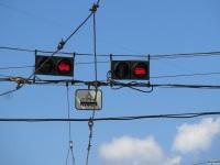 Витебск. Трамвайные светофоры на площади Победы