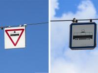 Витебск. Трамвайные дорожные знаки
