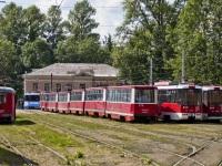 Витебск. РВЗ-6М2 №418, АКСМ-60102 №600, АКСМ-62103 №624, 71-605 (КТМ-5) №375