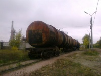 Тверь. Списанные цистерны готовятся к порезке на станции КСМ-2