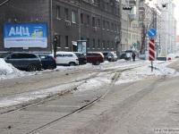 Москва. Тупиковый разворот трамвайного маршрута № 9