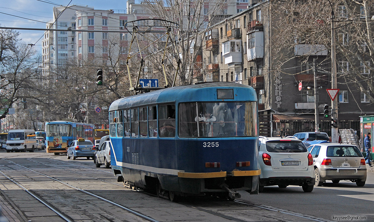 Одесса. Tatra T3SU мод. Одесса №3255