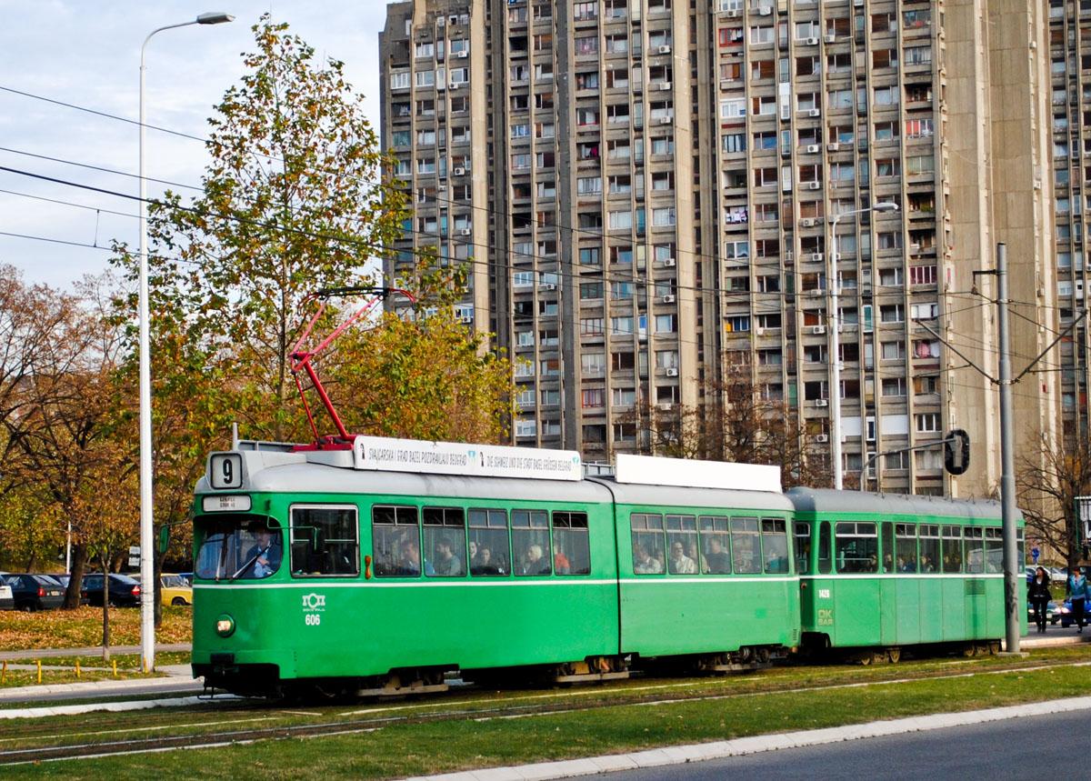 Белград. Duewag GT6 №606, B4 FFA/SWP №1426