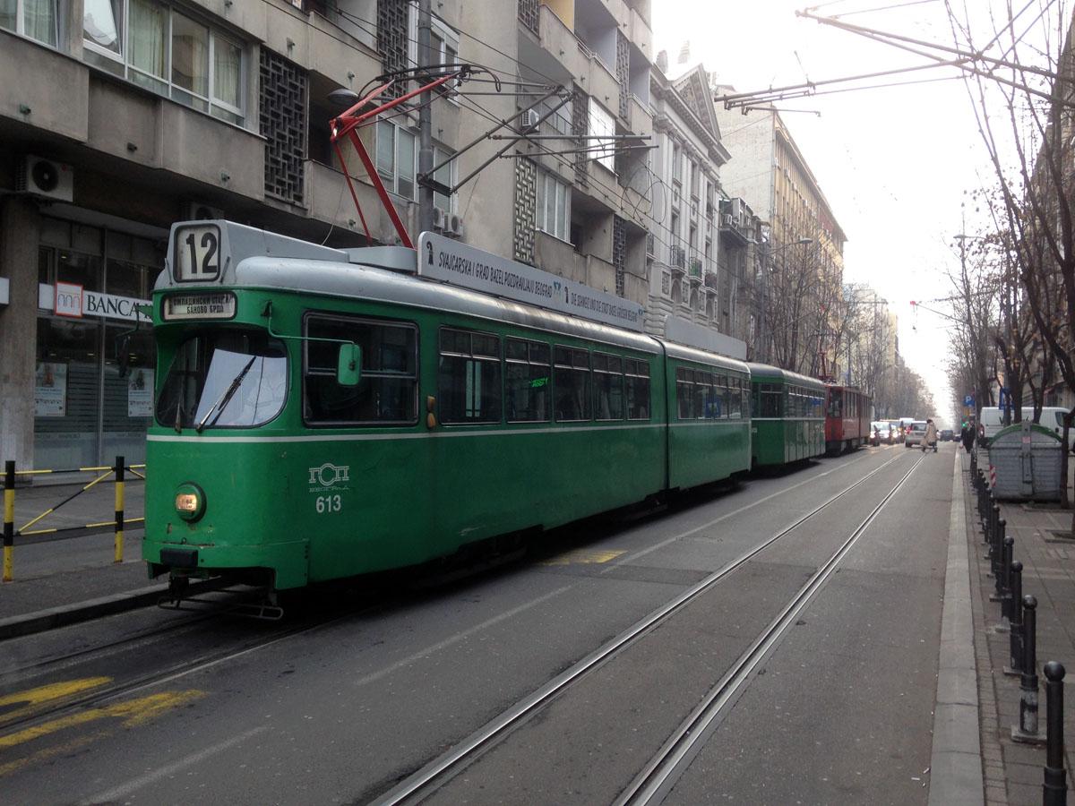 Белград. Duewag GT6 №613, B4 FFA/SWP №1438