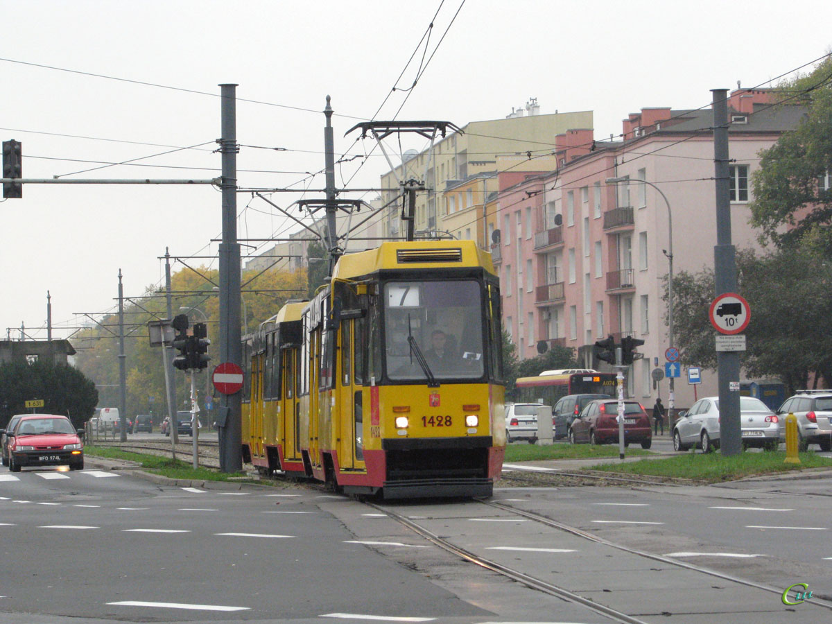 Варшава. Konstal 105Nf №1428